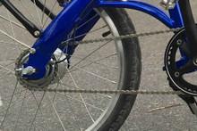 8C folding bike Blue  Stainless steel chain