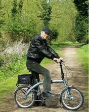 8C folding bike silver in the woods