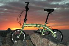 mini folding bike sunset non-drive side