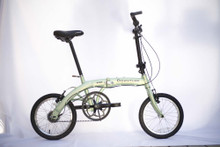 mini folding bike white background