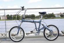 8FS silver folding Bike Downtown Disney