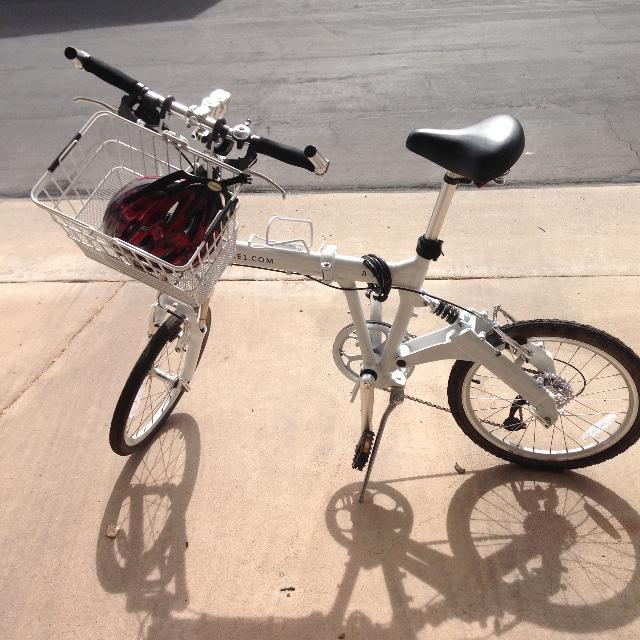 8FS folding bike with basket