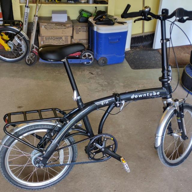 8H folding belt drive bike