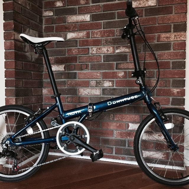 Nova blue folding bike