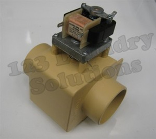 """* Generic Milnor Front Load Washer Drain Valve 115V 3"""" w/o Overflow 96D350A37"""