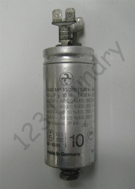 * Washer Capacitor 10MDF Unimac, F370230