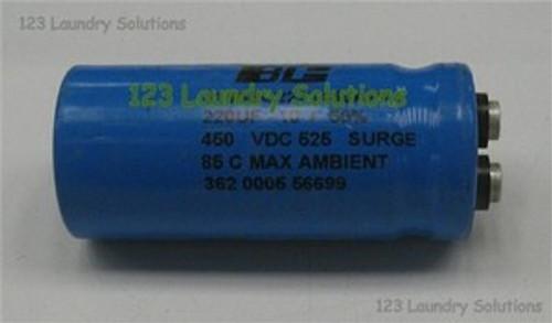 * Washer Capacitor 220MFD 450V Unimac, F370225P