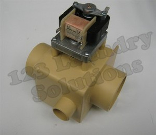 """* Girbau Front Load Washer Drain Valve 220V 3"""" WOF SHOR w/ Overflow 163212"""
