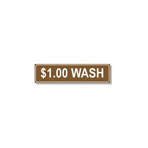 Washer Pricing Decal - PD $1.00W