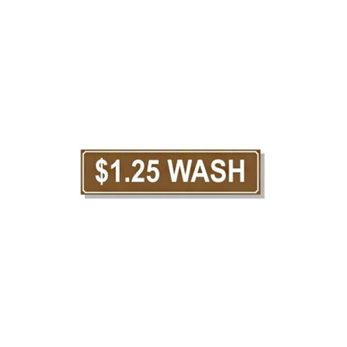 Washer Pricing Decal - PD $1.25W