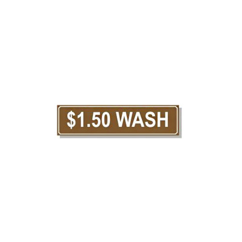 Washer Pricing Decal - PD $1.50W
