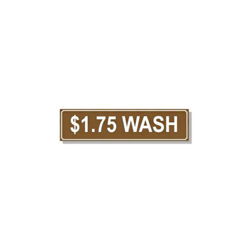 Washer Pricing Decal - PD $1.75W