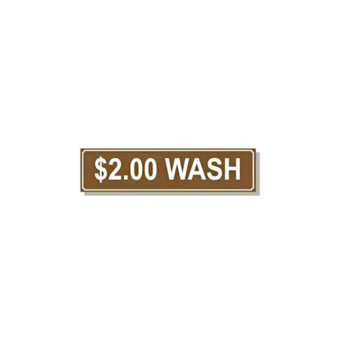Washer Pricing Decal - PD $2.00W