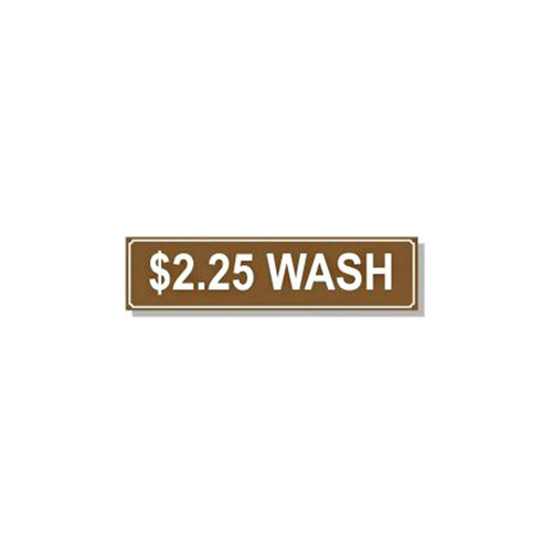 Washer Pricing Decal - PD $2.25W