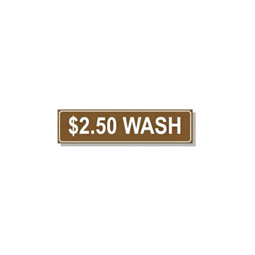 Washer Pricing Decal - PD $2.50W
