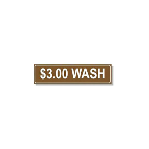 Washer Pricing Decal - PD $3.00W