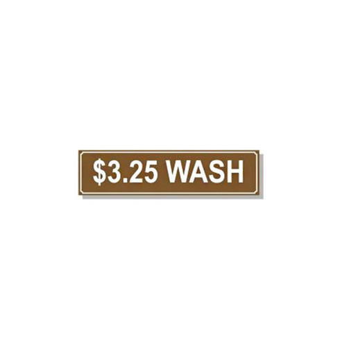 Washer Pricing Decal - PD $3.25W