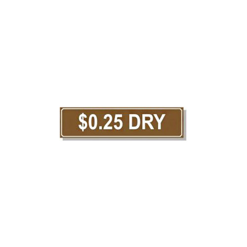 Dryer Pricing Decal - PD $0.25D