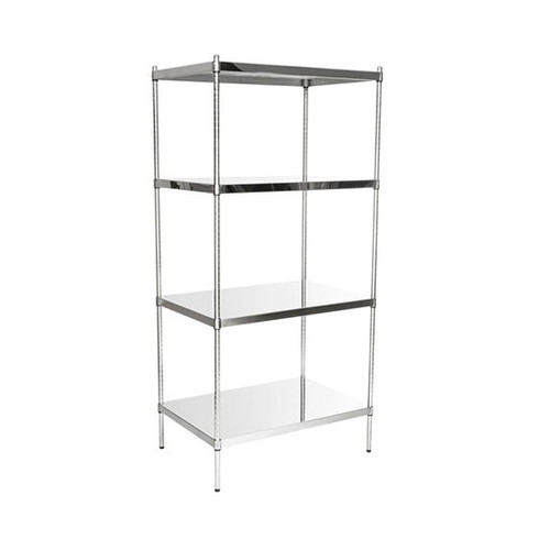 Stainless Steel Solid Shelf Units - SSS SH 1848