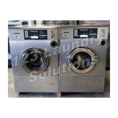 Ipso Stainless Steel, Front Load Washer 35lbs Capacity 1Ph 240v 60Hz Used