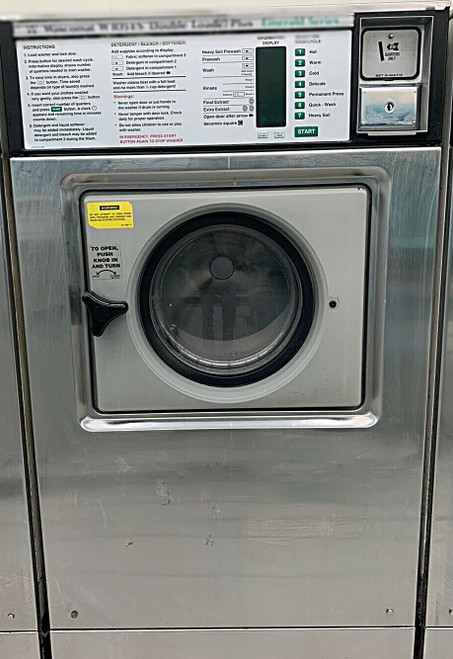 Wascomat Front Load Washer Double Load W105 Stainless Steel