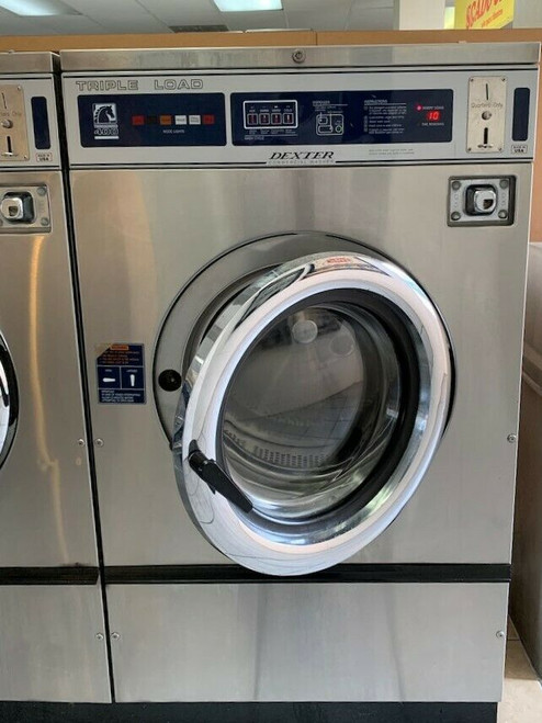 Dexter T400 Triple Load Washer, Stainless Steel Front, 3Phase 208-240 Volts 60HZ