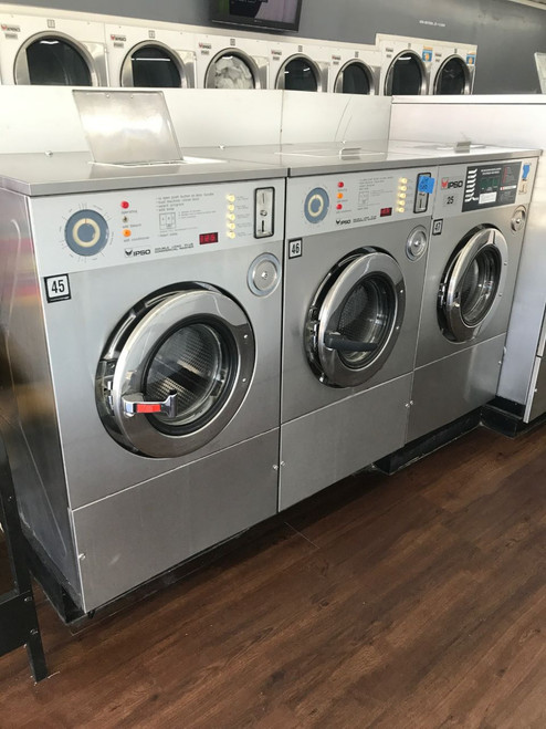 IPSO WE165C Front Load washer 35 lbs capacity Stainless Steel 3phase Refurbished