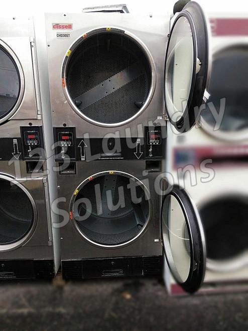 Cissell Stainless Steel 30 lbs Stack Dryer CTT30N3VB2G1N01 Refurbuished