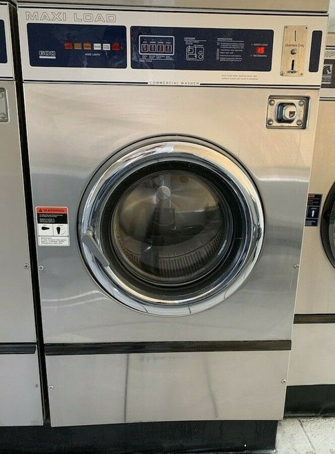DEXTER T600 40LB FRONT LOAD WASHER, STAINLESS STEEL S/N: 402035 REFURBISHED