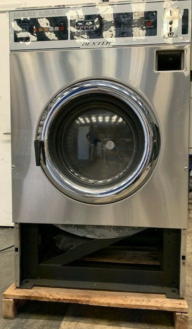 DEXTER T600 40LB, FRONT LOAD WASHER STAINLESS STEEL S/N: 402167 REFURBISHED