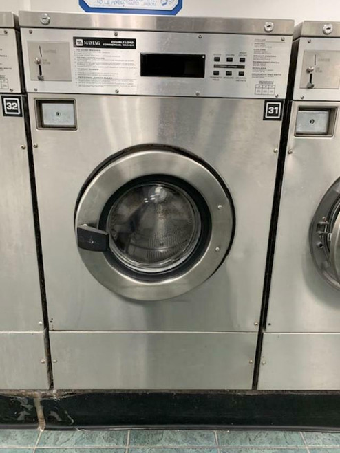 MAYTAG FRONT LOAD WASHER 25LB COIN OP STAINLESS STEEL S/N: 21000635EG USED
