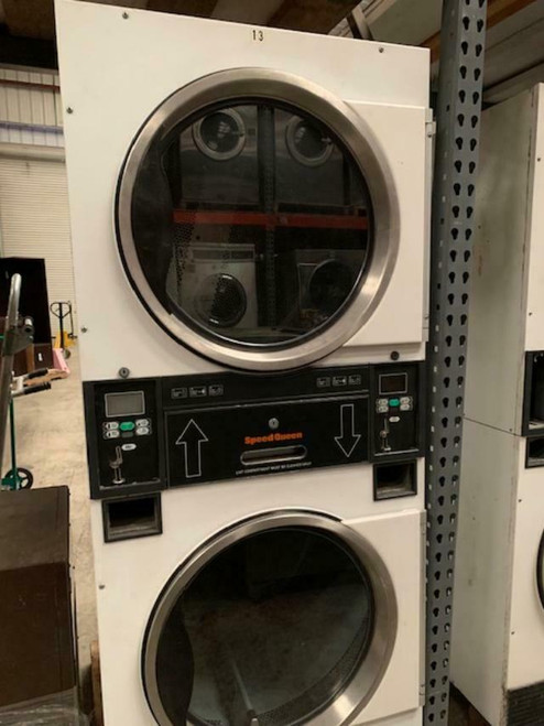 SPEED QUEEN STACK DRYER 30LBS WHITE FINISH MODEL ST0300DRG S/N: R0006005887