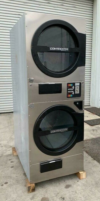 American Dryer ADC ADG330D Stack Dryer, 30Lb, Stainless S/N 472477CC [REF]