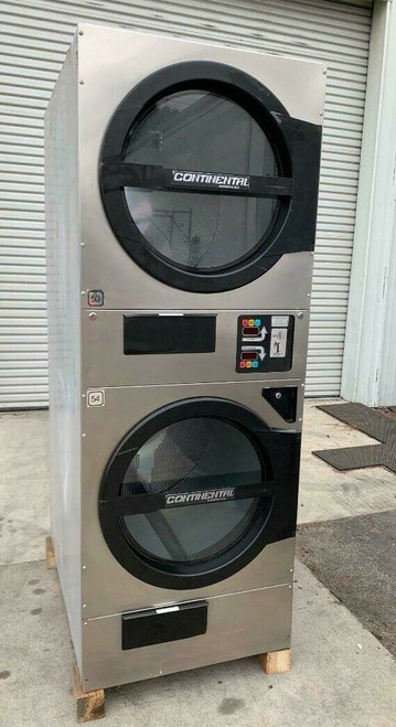 American Dryer ADC ADG330D Stack Dryer, 30Lb, Stainless S/N 472478CC [REF]