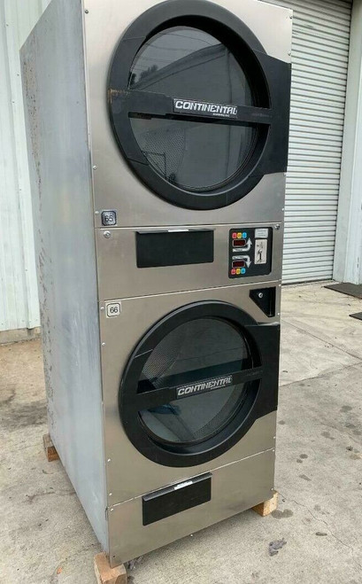 American Dryer ADC ADG330D Stack Dryer, 30Lb, Stainless S/N 472450CC [REF]