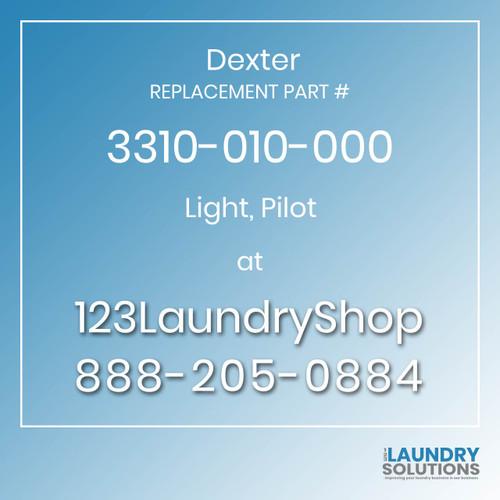 Dexter,Dexter Parts,Dexter Replacement,Dexter Replacement Number 3310-010-000,Light, Pilot,Dexter Replacement Part # 3310-010-000 Light, Pilot