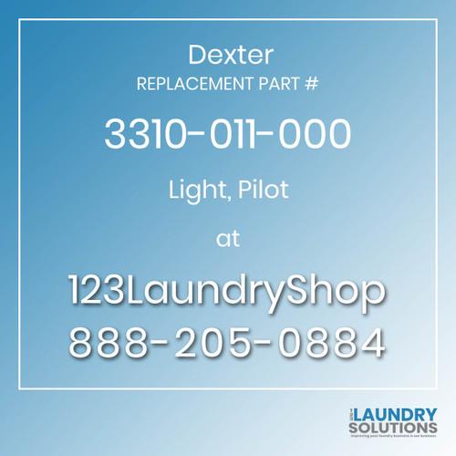 Dexter,Dexter Parts,Dexter Replacement,Dexter Replacement Number 3310-011-000,Light, Pilot,Dexter Replacement Part # 3310-011-000 Light, Pilot