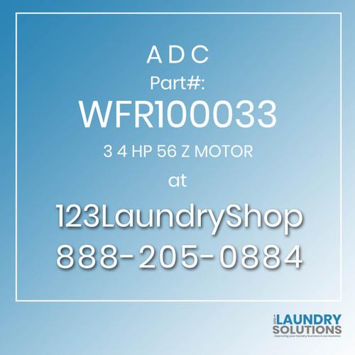 ADC-WFR100033-3 4 HP 56 Z MOTOR