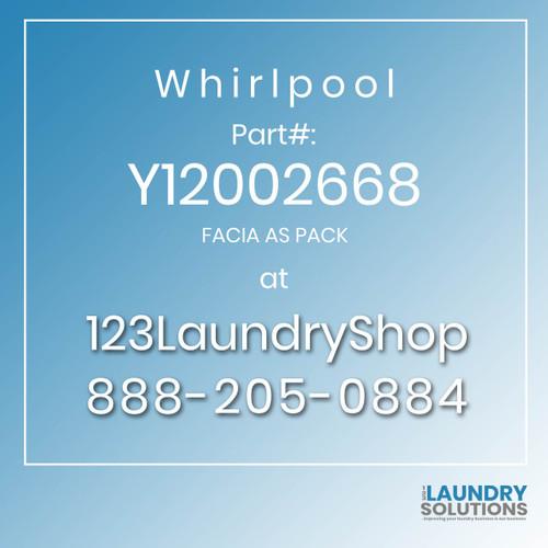 WHIRLPOOL #Y12002668 - FACIA AS PACK