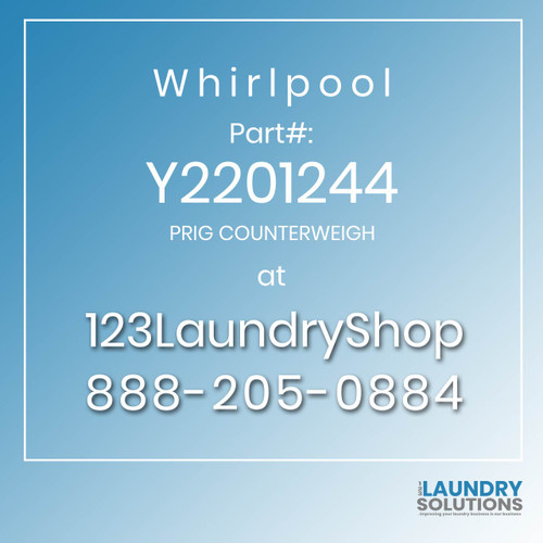 WHIRLPOOL #Y2201244 - PRIG COUNTERWEIGH