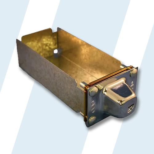 "ESD #72287-M 8"" LONG COIN BOX, W/CONE (MEDECO)"