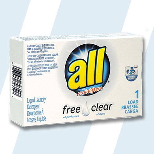 ALL #D-S-2979351 Free And Clear HE Liquid Detergent 1 Load Pouch