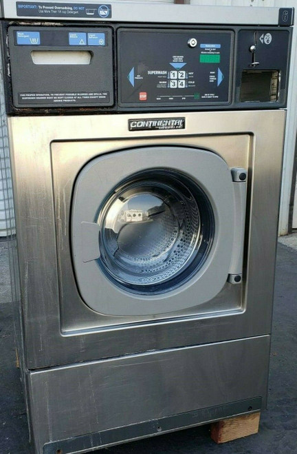 Continental/Girbau Front Load Washer EH020CA1324121 Coin Op 20LB,120V 60Hz, Serial:1432490A08