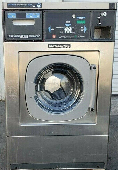 Continental/Girbau Front Load Washer EH020CA1324121 Coin Op 20LB,120V 60Hz, Serial #:1432491A08
