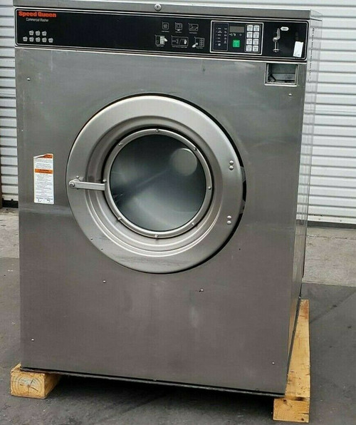 Speed Queen Front Load Washer SC80BCVQU60002 Coin Op 80LB 3PH 200-240V Serial #0510998347 AS-IS