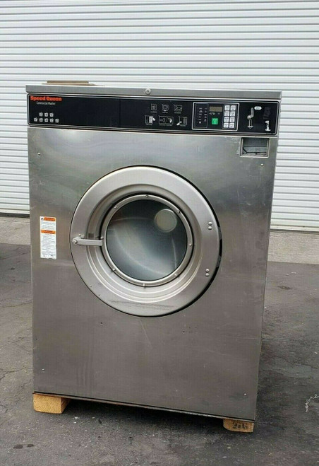Speed Queen Front Load Washer SC80BCVQU60002 Coin Op 80LB 3PH 200 240V Serial #0509997762 AS-IS