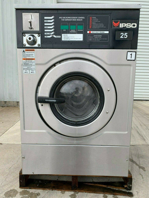 IPSO WASHER STAINLESS STEEL, 25LB IWF025 REFURBISHED