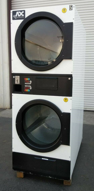 ADC (American Dryer Corp) ADG-333D Stack Dryer, Coin Op 30LB, S/N: 620341