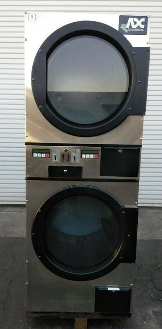 ADC (American Dryer Corp) ADG236D Stack Dryer Coin Op 30LB 120V, S/N: 495189 ET