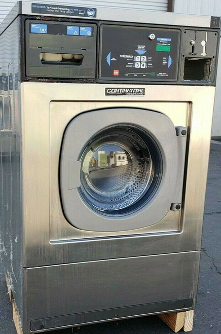 Continental/Girbau Front Load Washer EH020CA1324121 Coin Op 20LB,120V 60Hz, Serial #:1432488A08